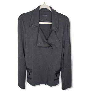 Stitch Fix Lemon Tart Grey Knit Moto Jacket, XL